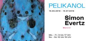 Einladung zur Ausstellung: Pelikan - Malerei Simon Evertz 10.06.-15.07.2018 Kulturforum Alte Post Neuss